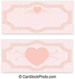 Invitación de boda retro en color rosa