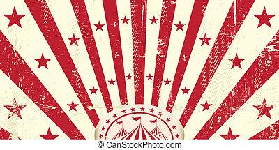 Invitación de circo retro rojo