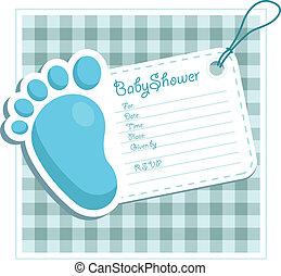 Invitación de despedida de bebé azul