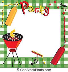 Invitación de Picnic y BBQ