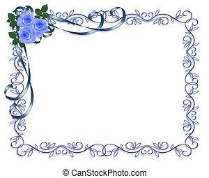 Invitación de rosas azules