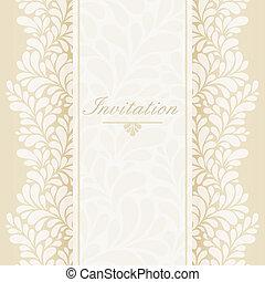 Invitación, tarjeta de aniversario