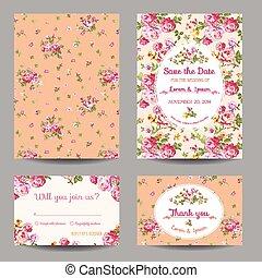 Invitación y tarjeta de felicitación lista para la boda, baby shower en vector