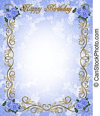 Invitaciones de cumpleaños rosas azules
