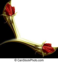 Invitaciones elegantes rosas rojas