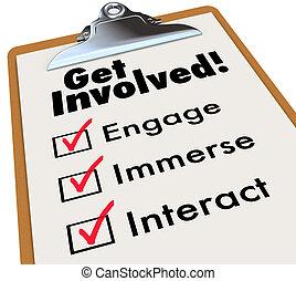 Involucra la lista de control de portapapeles y participa en la actividad grupal
