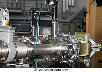 ion, importante, partes, acelerador