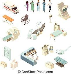 Ios iconos del hospital