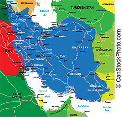 irán, mapa