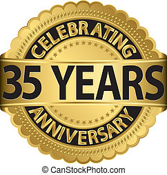 ir, celebrar, aniversario, 35, años