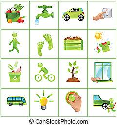 Ir con iconos verdes