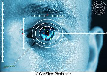 Iris escanea seguridad