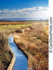 irrigación, canal