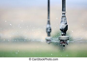 irrigación, encima de cierre