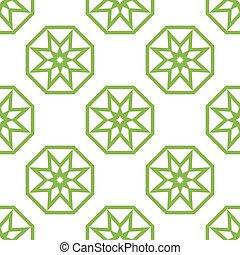 islámico, estrella, pauta fondo, seamless