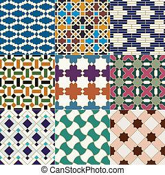 islámico, patrón, marroquí, seamless