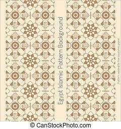 islámico, seamless, plano de fondo, egipto, patrón