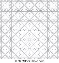 islámico, vector, patrón, ilustración