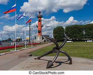 isla, columna, petersburg, s., -, rostral, rusia, vasilievsky