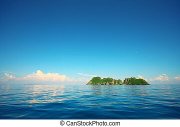 Isla en el mar
