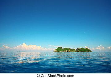 isla, mar