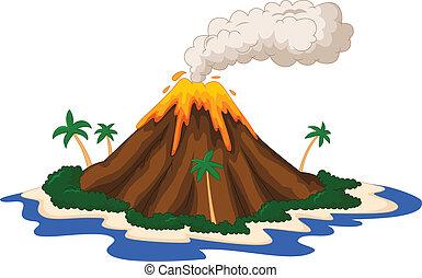 isla, volcánico