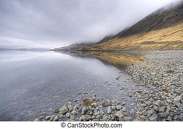 islandia, fiordo
