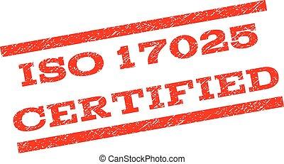 ISO 17025 sello certificado de marca de agua
