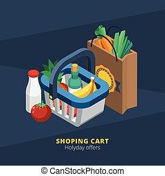 Isometric supermercado icono