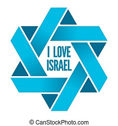 israel, judaísmo, magen, señal, logotipo, david, o