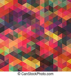 it., triángulo, telón de fondo., colorido, patrón, cima, shapes., triángulos, fondo., plano de fondo, hipster, mosaico, texto, lugar, geométrico, su, fondo, retro