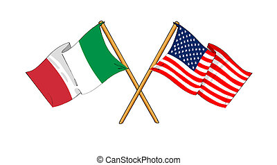 italia, alianza, amistad, américa