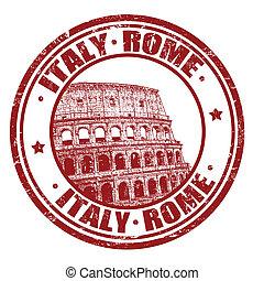 Italia, sello de Roma