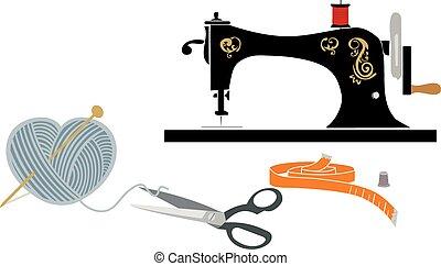 items:, pasatiempo, costura, tejido de punto