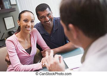 ivf, pareja, clínica, consulta, focus), (selective
