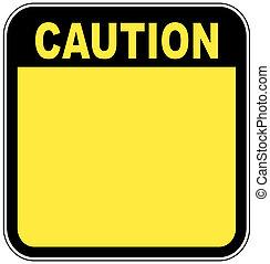izquierda, señal, su, gráfico, precaución, amarillo, blanco, habitación, poseer