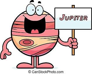 júpiter, caricatura, señal
