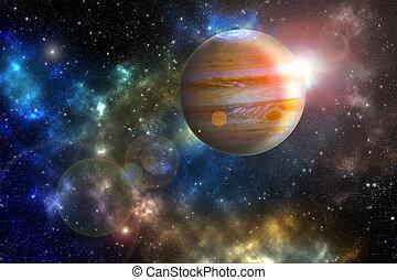 """Júpiter """"Elementos de esta imagen provista por la NASA"""""""