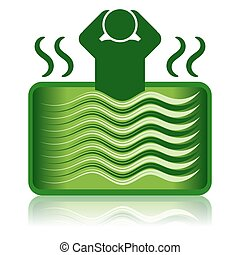 Jacuzzi verde / baño de spa / bañera