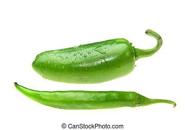 Jalapeno y pimienta verde