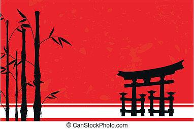 Japón de fondo de bambú 4