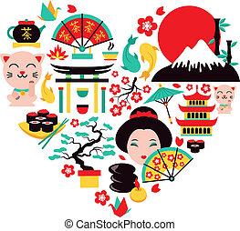 Japón simboliza el corazón