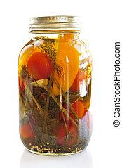 Jar de verduras en vinagre