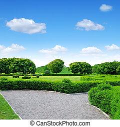 Jardín ornamental verde