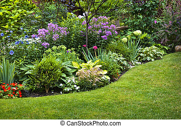 Jardín y flores