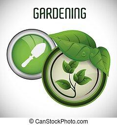 jardinería, diseño