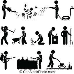 Jardinero obrero