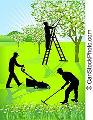 jardineros, jardinería