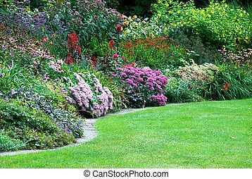 Jardines en el parque