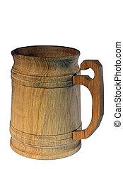 jarra, cerveza, de madera, kvass